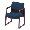 HON 2400 Series Guest Arm Chair, Mahogany Finish, Blue