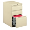 HON Efficiencies Mobile Pedestal File w/One File/Two Bo