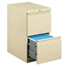 HON Efficiencies Mobile Pedestal File w/Two File Drawer