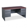 HON 38000 Series Double Pedestal Desk, 60w x 30d x 29-1