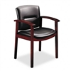HON 5000 Series Park Avenue Guest Chair, Black Vinyl/Ma