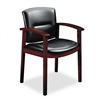HON 5000 Series Park Avenue Guest Chair, Black Leather/