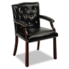HON 6540 Series Guest Arm Chair, Black Vinyl Upholstery