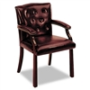 HON 6540 Series Guest Arm Chair, Oxblood Vinyl Upholste