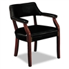 HON 6550 Series Guest Arm Chair, Black Vinyl Upholstery