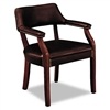 HON 6500 Series Guest Arm Chair, Oxblood Vinyl Upholste