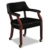 HON 6500 Series Guest Arm Chair w/Casters, Black Vinyl