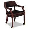 HON 6500 Series Guest Arm Chair w/Casters, Oxblood Viny