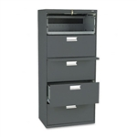 HON 600 Series Five-Drawer Lateral File, 30w x19-1/4d,
