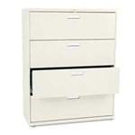 HON 600 Series Four-Drawer Lateral File, 42w x19-1/4d,