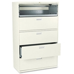 HON 600 Series Five-Drawer Lateral File, 42w x19-1/4d,