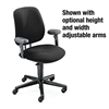 HON 7700 Series Swivel Task Chair, Olefin Fabric, Black