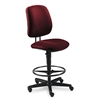 HON 7700 Series Swivel Task Stool, Olefin Fabric, Burgu