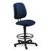 HON 7700 Series Swivel Task Stool, Olefin Fabric, Blue