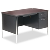HON Mentor Series Single Pedestal Desk, 48w x 30d x 29-