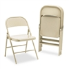 HON ALLSteel Folding Chairs, Light Beige, 4/Carton # HO