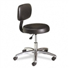 HON Medical Exam Stool w/Back, 24-1/4 x 27-1/4 x 36, Bl