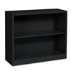 HON Metal Bookcase, 2 Shelves, 34-1/2w x 12-5/8d x 29h,