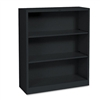 HON Metal Bookcase, 3 Shelves, 34-1/2w x 12-5/8d x 41h,