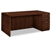 HON Arrive Single Pedestal Desk, Right, Shaker Cherry #