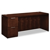 HON Arrive Single Pedestal Credenza, Left, Shaker Cherr