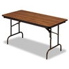 Iceberg Premium Wood Laminate Folding Table, 60w x 30d,