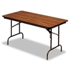 Iceberg Premium Wood Laminate Folding Table, 72w x 30d,