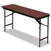 Iceberg Premium Wood Laminate Folding Table, 60w x 18d,