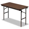 Iceberg Economy Wood Laminate Folding Table, 48w x 24d,
