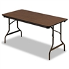 Iceberg Economy Wood Laminate Folding Table, 60w x 60d,