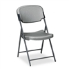 Iceberg Rough 'n' Ready Polyethylene Folding Chair w/St