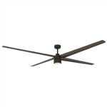 "Maxx Air 84"" Oil-Rubbed Bronze Ceiling Fan with Integrated LED Light, 9 Blades, 6 Speed Reversible DC Motor # ICF84"