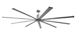 "Ventamatic Big Air 96"" INDUSTRIAL CEILING FAN, 9 BLADES, 6 SPEED REVERSIBLE DC MOTOR # ICF96"