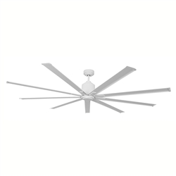 "Ventamatic Big Air 96"" WET LOCATION Industrial Ceiling Fan, 9 BLADES, 6 SPEED REVERSIBLE DC MOTOR w/Standard 6"" Downrod"