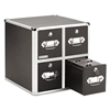 Vaultz Four-Drawer CD File w/Key Lock Holds 660 Discs,
