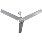 "TPI Industrial Down Draft 48"" Ceiling Fan, White - White Blades, IHR-48"