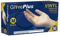 AMMEX Gloveplus IVPF Powder Free Vinyl Disposable Gloves 5mil - Small - Case of 1000