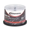 Innovera DVD-R Discs, 4.7GB, 16x, Spindle, White, 50/Pa