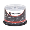 Innovera CD-R Discs, 700MB/80min, 52x, Spindle, Silver,