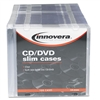 Innovera Thin Line Polystyrene CD/DVD Storage Cases, Cl