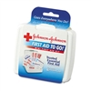 Johnson & Johnson BAND-AID Mini First Aid To Go Kit, 12