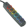 Kensington SmartSockets Color-Coded Strip Surge Protect