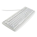 Kensington Washable Antimicrobial Keyboard, 104 Keys, W