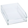 Kantek Double Letter Tray, Two-Tier, Acrylic, Clear # K