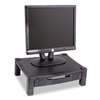 Kantek Height-Adjustable Stand w/Drawer, 17w x 13 1/4d