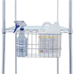 R&B Wire Accessory Basket for Linen Carts & Shelving Units