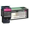 Lexmark C540H1MG High-Yield Toner, 2000 Page-Yield, Mag