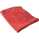 Microfiber Cleaning Cloths Light Red 16x16, 250 GSM- Pack of 12, LT-16RED