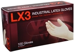 AMMEX Light Duty Latex Disposable Gloves LX3 3mil - Small - Case of 1000