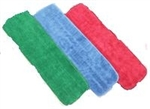 "Premium Microfiber Looped Wet Mop Pads Green 24""- 2 Dozen Included"